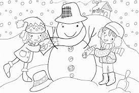 Small Picture Kids Winter Coloring Page Making Snowman Winter Coloring pages