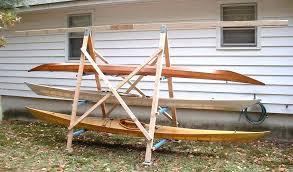outdoor kayak rack storage new to properly gallery plans wall diy kayak storage rack ideas homemade