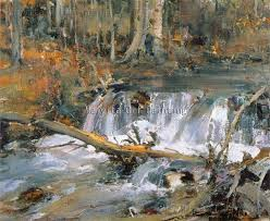 home decoration painting supplies abstract nature river scenery oil painting modern canvas art hang pictures no