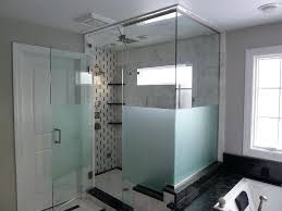 frosted glass shower doors creative mirror amp shower of sandblasted amp decorative etched glass shower door