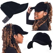 Satin Lined Baseball Hat for Women | Ponytail or Half ... - Amazon.com