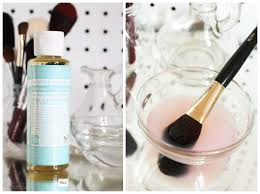diy makeup brush cleaning solution