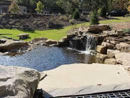 pittsburgh koi pond waterfall outdoor