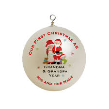 Christmas Ornaments For Grandparents Part - 16: Personalized Our First  Christmas As Grandma And Grandpa