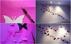 Wall Decoration Paper Design Colorful DIY Butterfly Crafts Projects To Make Your Imagination 99