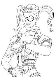 Batman Harley Quinn Colouring Pages Harley Quinn Coloring Pages Con
