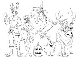 Frozen Halloween Coloring Page Mommy In