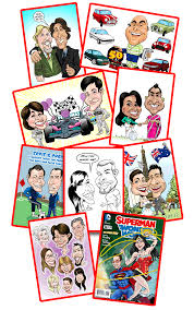 a personalised caricature for a family member as a birthday gift a fun personalised gift for your boyfriend in a theme of a ic book or tv series
