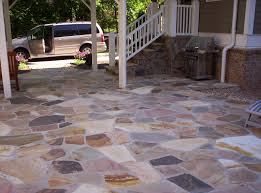 Decorations:Natural Stone Floor Porch Idea Beautiful and Creative Front  Porch Decorating Ideas