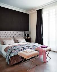 my same idea for our bedroom, a dark gray (almost black) accent wall behind  out bed. This is a good example, our headboard is the same color