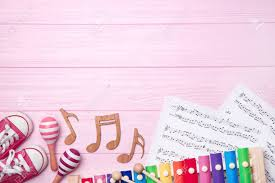 Music Writing Paper Beautiful Composition With Music Sheets On Wooden Background