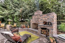 outdoor fireplace pizza oven combo kits decorating for fall in september