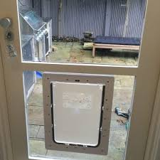 large dog door for glass supplied installed