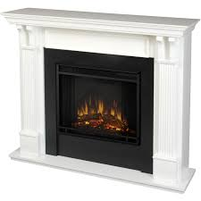 real flame 48 inch electric fireplace with mantel white 7100e w