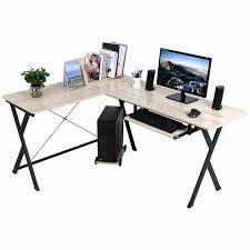 home office shaped. L-shaped Computer Workstation Corner Desk Set With Book Shelf Home Office Perfect For Shaped