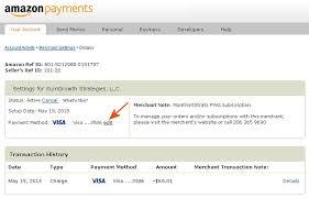 cange credit card information