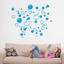 bubble vinyl wall art
