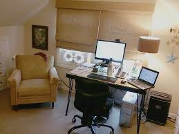 Home Office Desk Before Craft Studio and Home Office Remodel