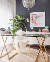 chic office space. Source: @ Desiperkins Chic Office Space