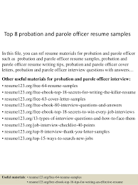 Assistant Probation Officer Sample Resume Impressive Probation Officer Samples Cover Letters Kenicandlecomfortzone