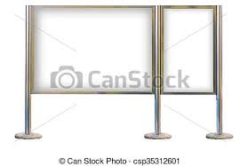 Signboard Template Blank Signboard Template For Text On Silver Pole Blank Signboard