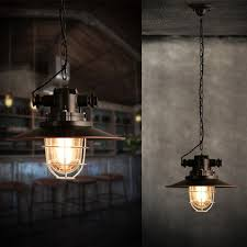 Pendant Lighting Vintage Painted Iron E27 Pendant Lighting Vintage Lamp Holder Incandescent Bulbs Chain Stainless Industrial Fixtures