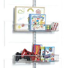 closet door storage racks platinum utility kids closet door wall rack with wire baskets closet storage closet door storage