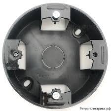 <b>Коробка подъемная 1</b>-пост, круглая, Vintage, цвет черный ...