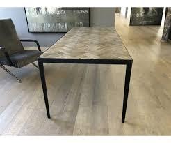 Tisch Metall Gestell Esstisch Holz Metall Eiche Breite 240 Cm