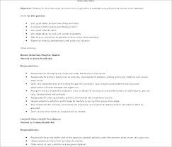 Certified Nursing Assistant Cover Letter Examples Resume Creator Beauteous Cna Resume Sample