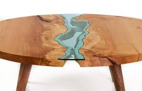 unique wood furniture designs. Unique Wooden Tables Embedded With Glass Rivers And Lakes By Intended For Table Design Plan 18 Wood Furniture Designs G