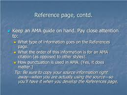 Ppt Writing A Research Paper In Ama Style Powerpoint Presentation