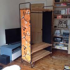 ikea bodo wardrobe clothes rack hanging rail storage shelves