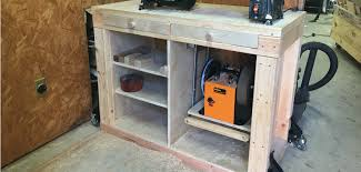 build a lathe stand with pull out grinder shelf