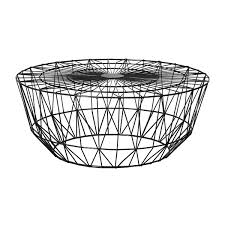 wire coffee table. Life Interiors - Studio Wire Coffee Table (Black, 90cm) Modern Tables For Your Living Room Online Or In Store! T