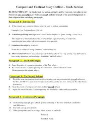Compare Contrast Essay Template How To Write A Good High School