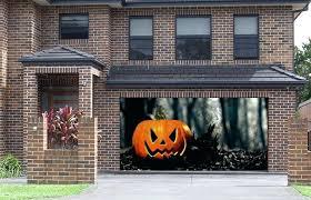 garage door decoration scary decoration garage door