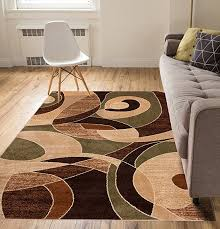 calm chaos multi green modern casual geometric area rug 3x5 3 3