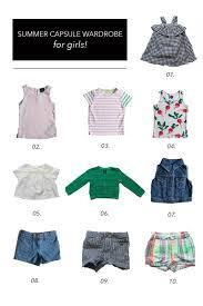 <b>Summer</b> Capsule Wardrobe    <b>Toddler Girls</b> - The Effortless Chic