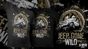 Jeep T Shirt Designs Modern Bold T Shirt Design For Jeep Gone Wild By Zleezoo