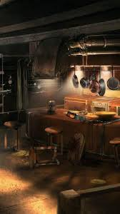 Kitchen halo reach digital art concept ...