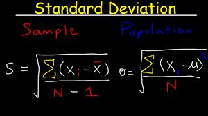 Variance Formula Standard Deviation Formula Statistics Variance Sample And Population Mean