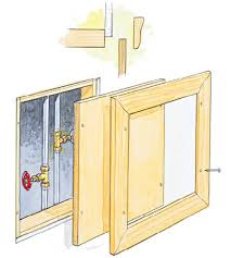 plumbing access panel. Wonderful Access Itu0027s Easy To Build Your Own Access Panels If The Panel Is Hidden Inside A  Closet You May Want Skip Wood Frame And Simply Screw Drywall  Throughout Plumbing Access Panel G