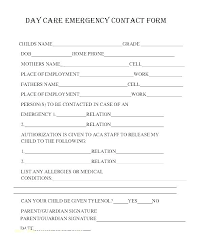 template for emergency contact information emergency medical form template contact information