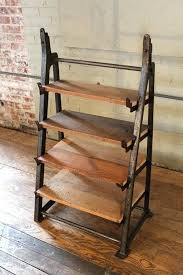 metal and wood shelving unit custom factory vintage industrial cast iron wood shelving storage unit with