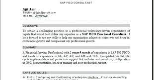 sap fico resume sample sap consultant sample resume sap sample resumes sap  sap fico resume sample