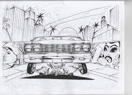 Small Picture Lowrider Coloring Cadillac Car Gekimoe 69246