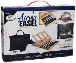 royal and langnickel acrylic painting art easel set co uk toys