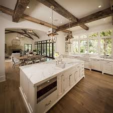 open floor plan homes. Kitchen Stunning Open Plan With Living Room Feat L Shaped Cabinets Calming Tuscan Floor Homes