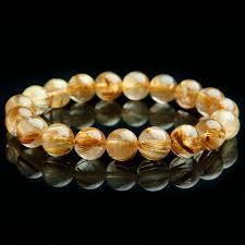 <b>100 Natural Gold RUTILATED</b> Quartz Crystal Beads Wealthy Luck ...
